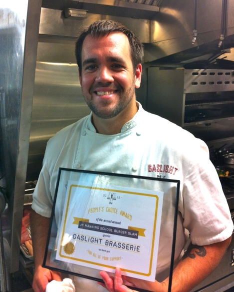 Mike Zentner, Executive Chef at Gaslight Brasserie
