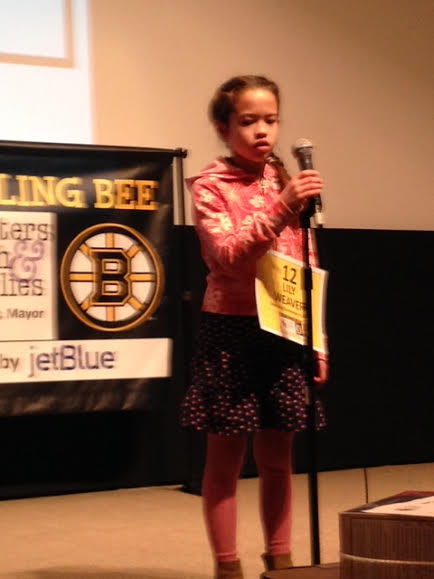 Lily @ the Citywide Spelling Bee